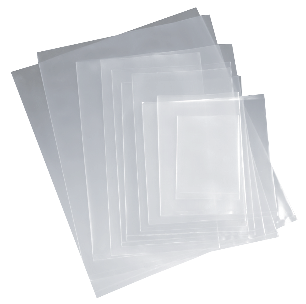 Bolsas de plástico transparentes de varios tamaños
